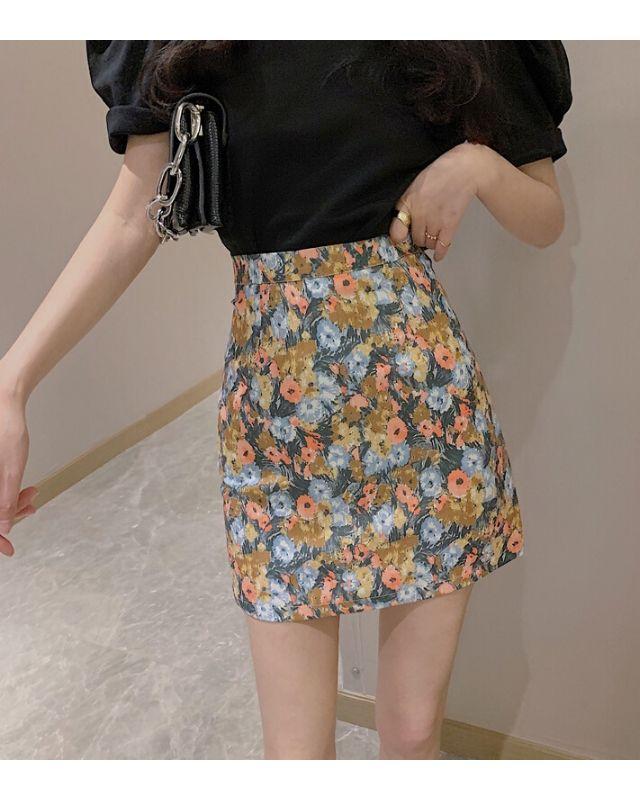 Chân váy hoa HCV07