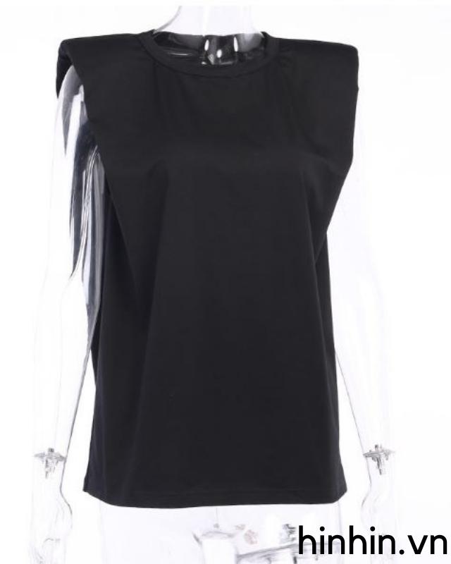 Áo thun tay ngắn độn vai ba basic dễ kết hợp HAC132 Hỉn Hỉn Store